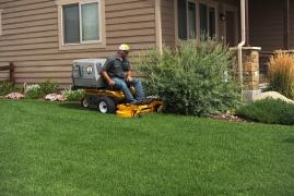Walker Lawn Mower Cutting Grass