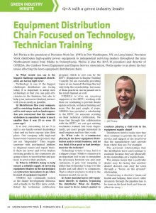 Equipment Distribution Chain Focused on Technology, Technician Training